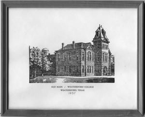 Primary view of object titled '[Drawing of Old Main, Weatherford College]'.