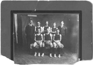 Primary view of object titled '[1917 Weatherford College Men's Basketball Team]'.
