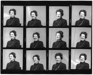Primary view of object titled '[Contact sheet for Lillie Abercrombie portraits]'.