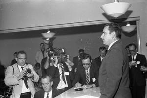 Primary view of object titled '[Assistant Press Secretary Malcolm Kilduff's press conference]'.