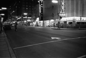Primary view of object titled '[Commerce Street in downtown Dallas the evening of November 22, 1963]'.
