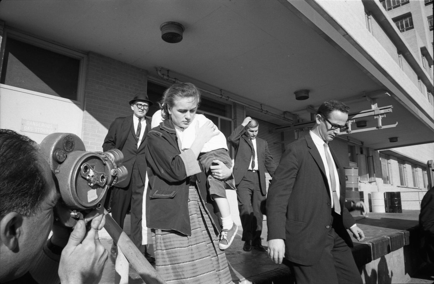 Marina And June Oswald Leaving Parkland Hospital The