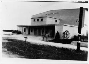 Primary view of object titled 'War Department Theater at Camp Wallace'.