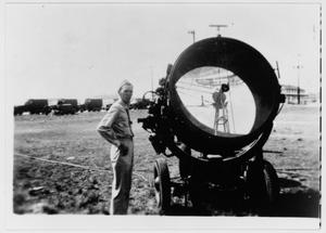 Primary view of object titled 'Searchlight at Camp Wallace'.