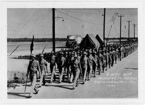A Battery - 30th Marching to Parade