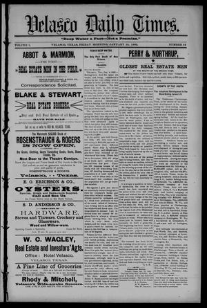 Velasco Daily Times (Velasco, Tex.), Vol. 1, No. 34, Ed. 1 Friday, January 15, 1892