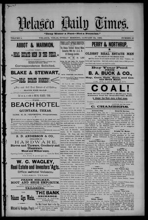 Velasco Daily Times (Velasco, Tex.), Vol. 1, No. 42, Ed. 1 Sunday, January 24, 1892