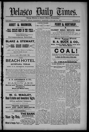 Velasco Daily Times (Velasco, Tex.), Vol. 1, No. 44, Ed. 1 Wednesday, January 27, 1892