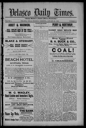 Velasco Daily Times (Velasco, Tex.), Vol. 1, No. 45, Ed. 1 Thursday, January 28, 1892
