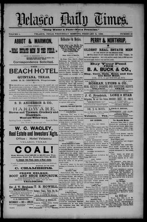 Velasco Daily Times (Velasco, Tex.), Vol. 1, No. 50, Ed. 1 Wednesday, February 3, 1892