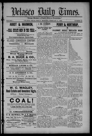 Velasco Daily Times (Velasco, Tex.), Vol. 1, No. 52, Ed. 1 Friday, February 5, 1892