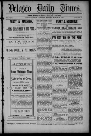 Velasco Daily Times (Velasco, Tex.), Vol. 1, No. 95, Ed. 1 Saturday, March 26, 1892