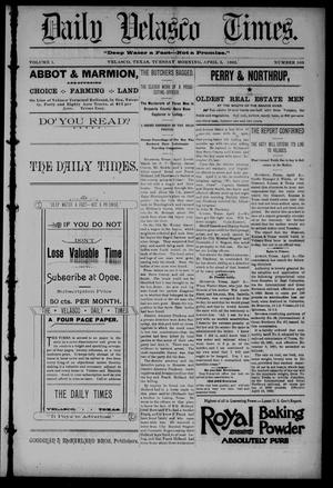 Primary view of object titled 'Daily Velasco Times (Velasco, Tex.), Vol. 1, No. 103, Ed. 1 Tuesday, April 5, 1892'.