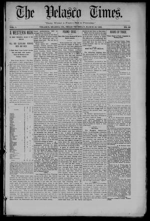 The Velasco Times (Velasco, Tex.), Vol. 1, No. 28, Ed. 1 Thursday, March 24, 1892