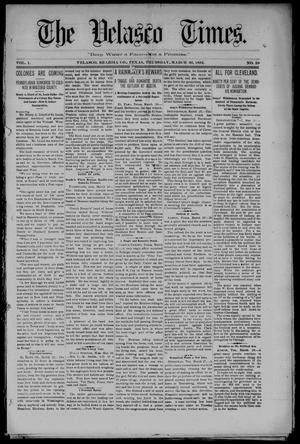 Primary view of object titled 'The Velasco Times (Velasco, Tex.), Vol. 1, No. 29, Ed. 1 Thursday, March 31, 1892'.