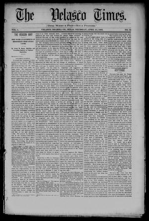 Primary view of object titled 'The Velasco Times (Velasco, Tex.), Vol. 1, No. 32, Ed. 1 Thursday, April 21, 1892'.