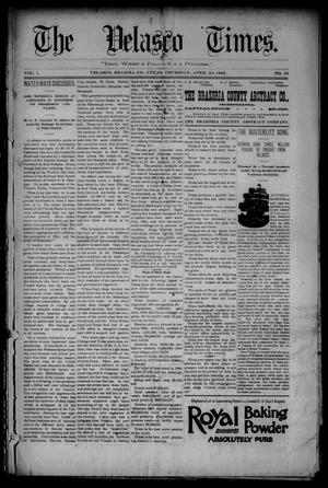 Primary view of object titled 'The Velasco Times (Velasco, Tex.), Vol. 1, No. 33, Ed. 1 Thursday, April 28, 1892'.