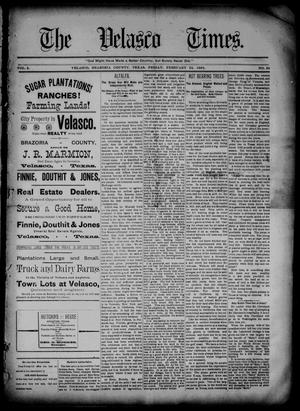 Primary view of object titled 'The Velasco Times (Velasco, Tex.), Vol. 2, No. 26, Ed. 1 Friday, February 24, 1893'.