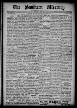 Primary view of object titled 'The Southern Mercury (Dallas, Tex.), Vol. 8, No. 11, Ed. 1 Thursday, March 14, 1889'.