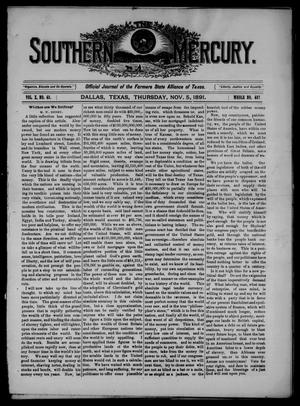 The Southern Mercury. (Dallas, Tex.), Vol. 10, No. 45, Ed. 1 Thursday, November 5, 1891
