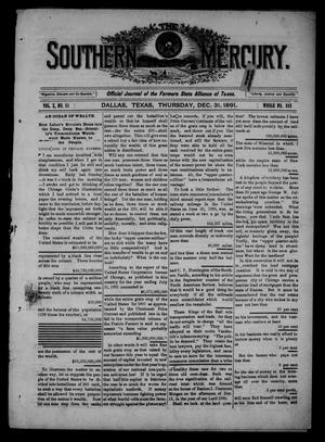 The Southern Mercury. (Dallas, Tex.), Vol. 10, No. 53, Ed. 1 Thursday, December 31, 1891