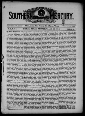 The Southern Mercury. (Dallas, Tex.), Vol. 11, No. 4, Ed. 1 Thursday, January 28, 1892