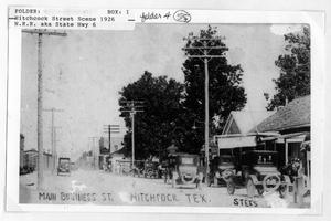Primary view of object titled 'Main Business Street, Hitchcock'.