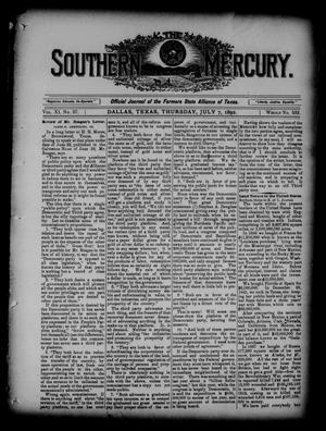 Primary view of object titled 'The Southern Mercury. (Dallas, Tex.), Vol. 11, No. 27, Ed. 1 Thursday, July 7, 1892'.