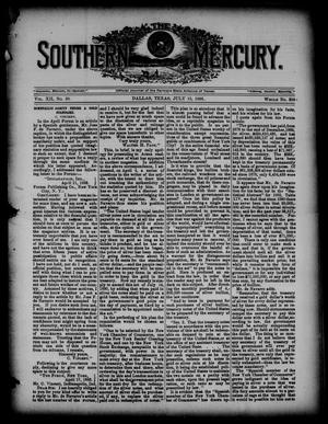 Primary view of object titled 'The Southern Mercury. (Dallas, Tex.), Vol. 12, No. 28, Ed. 1 Thursday, July 13, 1893'.