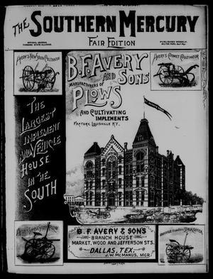 Primary view of The Southern Mercury. (Dallas, Tex.), Vol. 13, No. 44, Ed. 1 Thursday, November 1, 1894