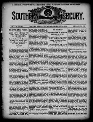 The Southern Mercury. (Dallas, Tex.), Vol. 13, No. 49, Ed. 1 Thursday, December 6, 1894