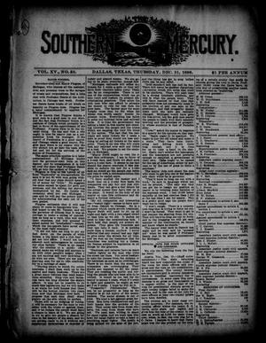 The Southern Mercury. (Dallas, Tex.), Vol. 15, No. 53, Ed. 1 Thursday, December 31, 1896