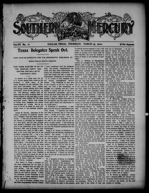 Primary view of object titled 'Southern Mercury. (Dallas, Tex.), Vol. 20, No. 11, Ed. 1 Thursday, March 15, 1900'.