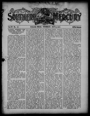 Primary view of object titled 'Southern Mercury. (Dallas, Tex.), Vol. 20, No. 27, Ed. 1 Thursday, July 5, 1900'.