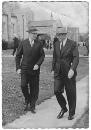 [Dr. W. V. Houston and Lamar Fleming Jr. at Rice University]