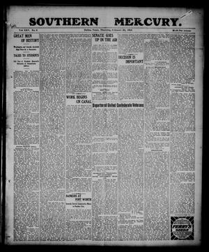 Primary view of object titled 'Southern Mercury. (Dallas, Tex.), Vol. 25, No. 8, Ed. 1 Thursday, February 23, 1905'.