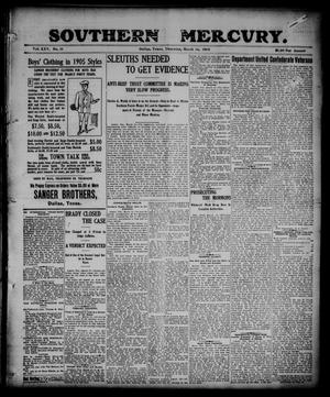 Primary view of object titled 'Southern Mercury. (Dallas, Tex.), Vol. 25, No. 11, Ed. 1 Thursday, March 16, 1905'.