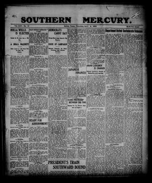 Primary view of object titled 'Southern Mercury. (Dallas, Tex.), Vol. 25, No. 14, Ed. 1 Thursday, April 6, 1905'.