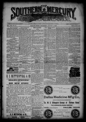 The Southern Mercury, Texas Farmers' Alliance Advocate. (Dallas, Tex.), Vol. 8, No. 31, Ed. 1 Thursday, August 1, 1889