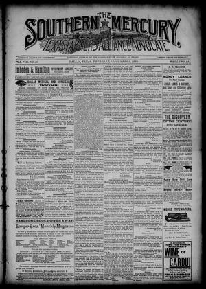 The Southern Mercury, Texas Farmers' Alliance Advocate. (Dallas, Tex.), Vol. 8, No. 36, Ed. 1 Thursday, September 5, 1889