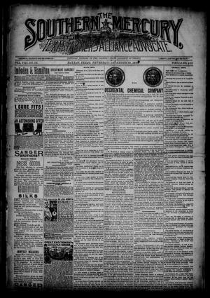 The Southern Mercury, Texas Farmers' Alliance Advocate. (Dallas, Tex.), Vol. 8, No. 52, Ed. 1 Thursday, December 26, 1889