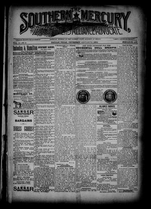 The Southern Mercury, Texas Farmers' Alliance Advocate. (Dallas, Tex.), Vol. 9, No. 2, Ed. 1 Thursday, January 9, 1890