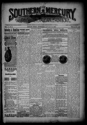 Primary view of object titled 'The Southern Mercury, Texas Farmers' Alliance Advocate. (Dallas, Tex.), Vol. 9, No. 3, Ed. 1 Thursday, January 16, 1890'.