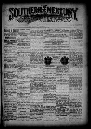 The Southern Mercury, Texas Farmers' Alliance Advocate. (Dallas, Tex.), Vol. 9, No. 4, Ed. 1 Thursday, January 23, 1890
