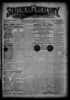 Primary view of object titled 'The Southern Mercury, Texas Farmers' Alliance Advocate. (Dallas, Tex.), Vol. 9, No. 9, Ed. 1 Thursday, February 27, 1890'.