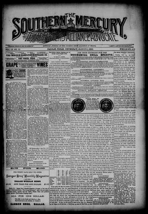 Primary view of object titled 'The Southern Mercury, Texas Farmers' Alliance Advocate. (Dallas, Tex.), Vol. 9, No. 10, Ed. 1 Thursday, March 6, 1890'.