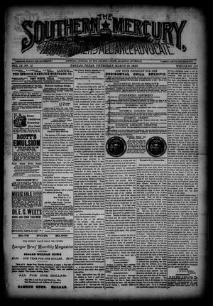 The Southern Mercury, Texas Farmers' Alliance Advocate. (Dallas, Tex.), Vol. 9, No. 11, Ed. 1 Thursday, March 13, 1890