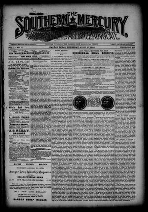 The Southern Mercury, Texas Farmers' Alliance Advocate. (Dallas, Tex.), Vol. 9, No. 16, Ed. 1 Thursday, April 17, 1890