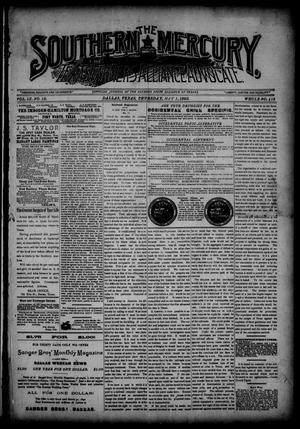 Primary view of object titled 'The Southern Mercury, Texas Farmers' Alliance Advocate. (Dallas, Tex.), Vol. 9, No. 18, Ed. 1 Thursday, May 1, 1890'.