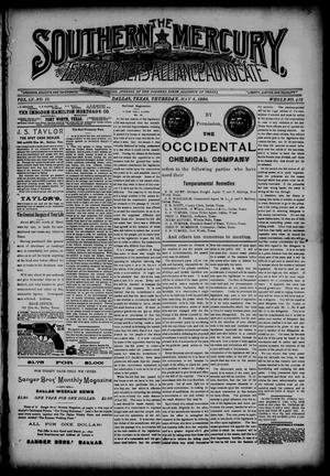 The Southern Mercury, Texas Farmers' Alliance Advocate. (Dallas, Tex.), Vol. 9, No. 19, Ed. 1 Thursday, May 8, 1890